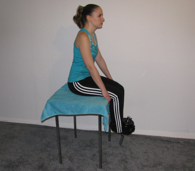 Leg Extension With Dumbbell, Seated Form, Muscles Worked ...