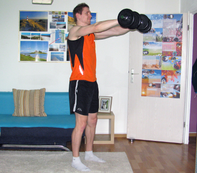 front raise with dumbbells form muscles worked benefits