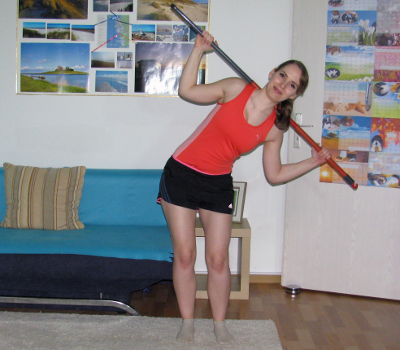 side bend with broomstick form muscles worked benefits